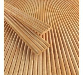Деревянные обои «Волна», лиственница, Экстра