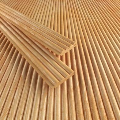 Деревянные обои «Волна», лиственница, Экстра - 4,0 м
