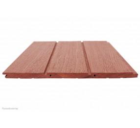 Вагонка Красный Бинтангор, темная 14х120 мм