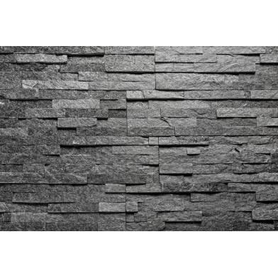 Натуральный камень AITOKIVI Black Quartzite 150х600х15-25 (уп. 7 шт.)