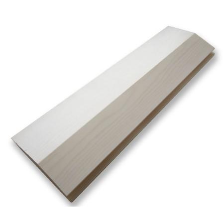 Вагонка из сосны, профиль «Бриллиант», белый ЛАК