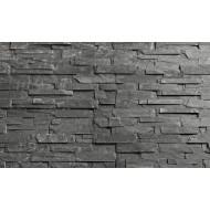 3D панель из натурального камня, сланец чёрный 150х600 мм  (уп. 7 шт)