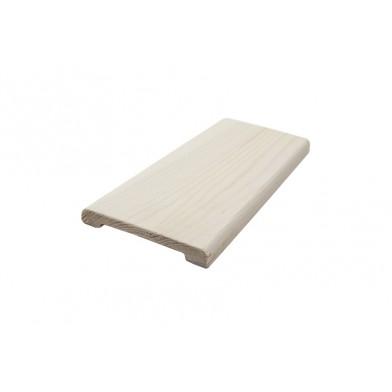 Наличник хвоя, окрашенный 90 мм, белый воск