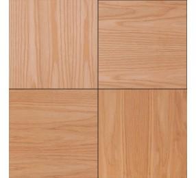 Шпонированные панели «Мозаика», красный дуб, 300х300х11 мм