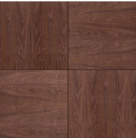 Шпонированные панели «Мозаика», черный орех, 300х300х11 мм