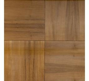 Шпонированные панели «Мозаика», дикорастущий тик, 300х300х11 мм