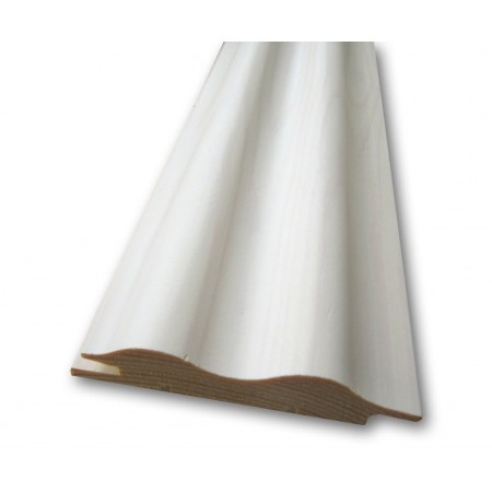 Вагонка из сосны, профиль «Волна», белый ЛАК - 3,6 м