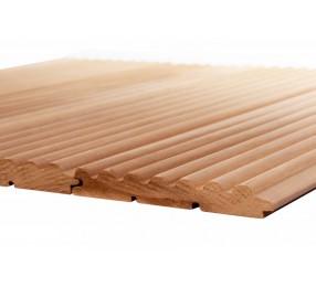 Вагонка термо-осина 'Волна', сорт АВ, (деревянные обои)