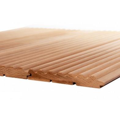 Вагонка термо-осина Волна, сорт АВ, (деревянные обои) - 1,1 м